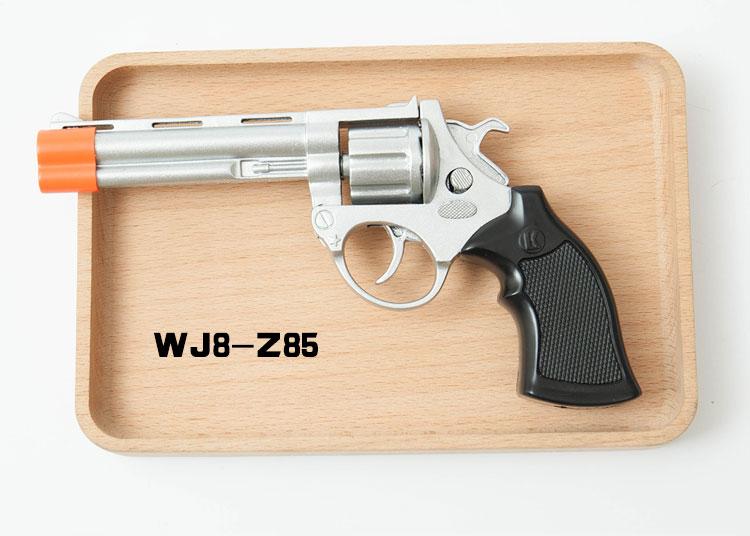 经典左轮手枪图片: WJ8-Z85左轮仿真手枪,可打火炮子经典的一款怀旧玩具枪全金属