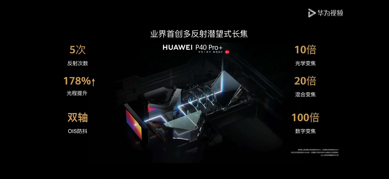 P40相机技术采用10倍光学变焦多反射镜片技术,甩友商一条街  第1张